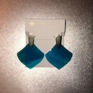 KENDRA SCOTT Ocean blue drop earrings